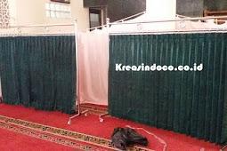 Repeat Order Pesanan Pembatas Sholat Wanita Di Masjid Jami' Al Mujahidin Pondok Gede Bekasi