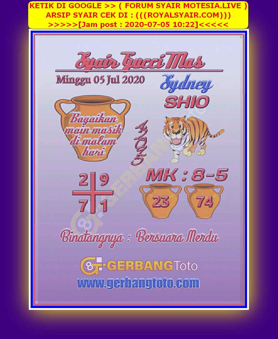 Kode syair Sydney Minggu 5 Juli 2020 25