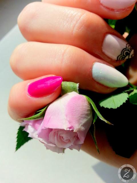 manicure odcienie rozu