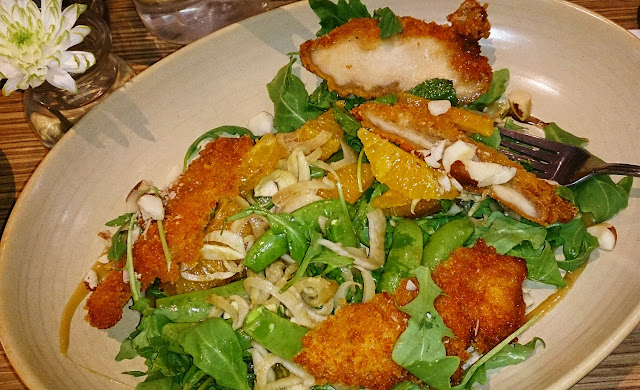 Two Seeds, panko chicken salad