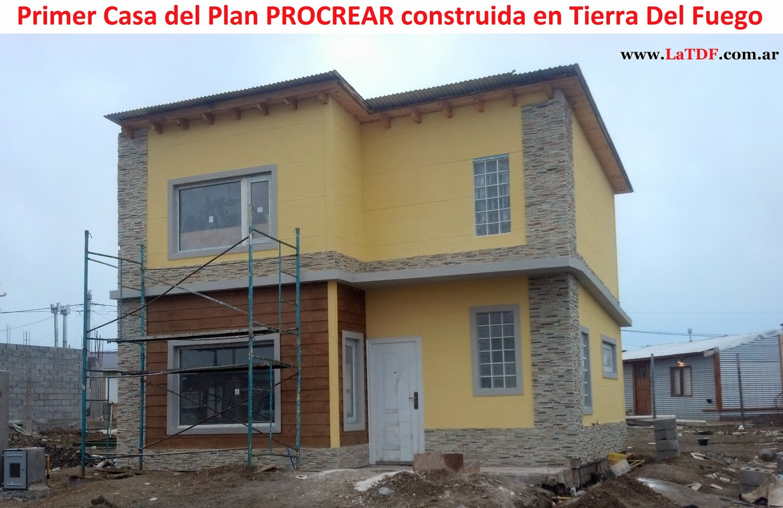 Procrear mart n p rez destac la adjudicaci n de la obra for Modelos casas procrear 2016