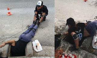 Τρομερό βίντεο: Διασώστες μπαίνουν σε φρεάτιο του Ψυχικού και σώζουν κουτάβι!