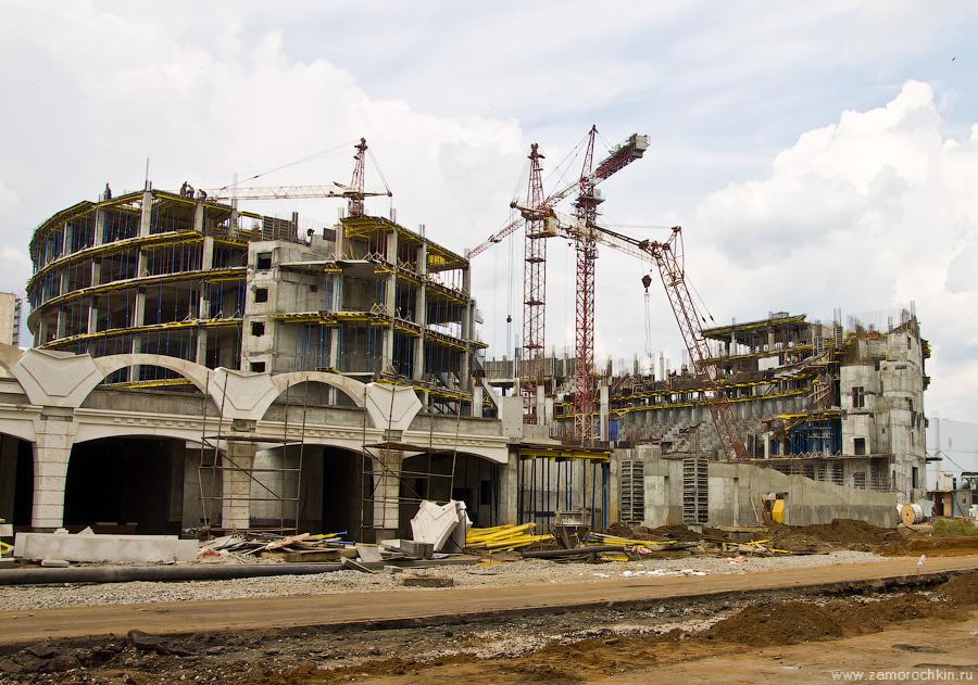 Строительство Универсального зала на площади Тысячелетия | Construction of the Universal Hall on The Millennium Square