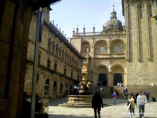 La fachada de las platerías, Catedral de Santiago de compostela, Galicia
