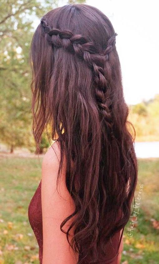 simple summer hairstyle idea