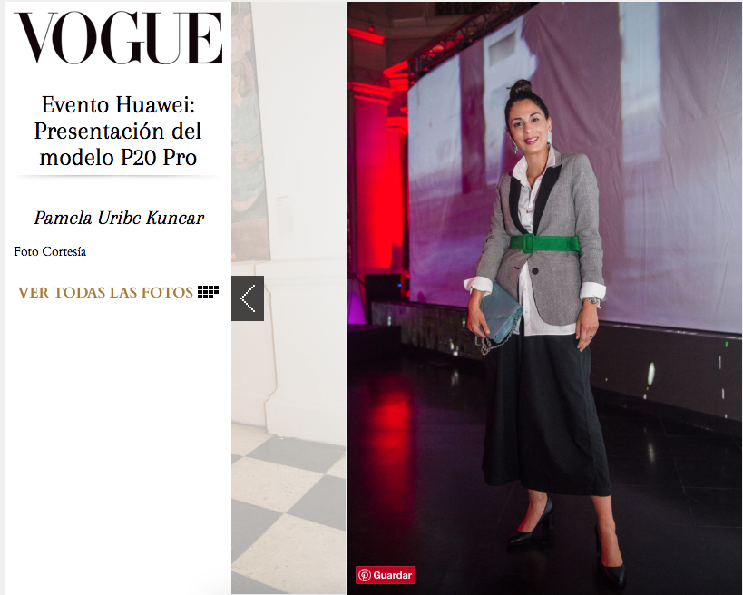 Pamela Victoria - Pamela Uribe Kuncar en Vogue - Huawei P20 - Huawei