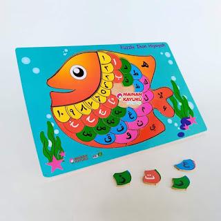 Gambar Puzzle Ikan Hijaiyah
