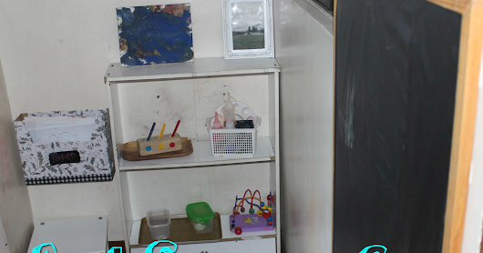 Budget-Friendly Art Space for a Toddler