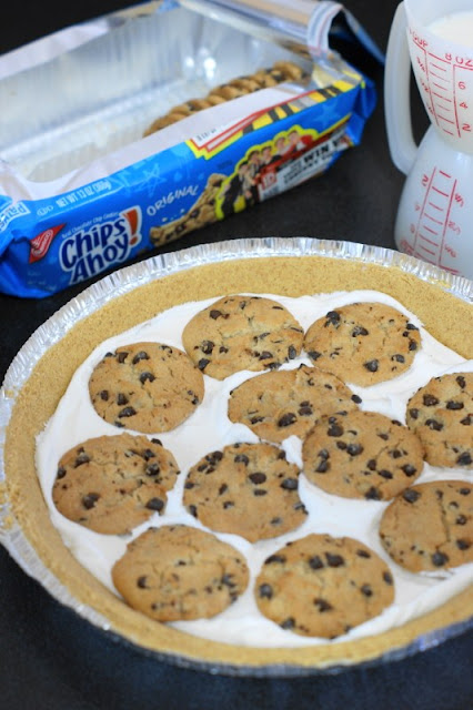 Making No-Bake Chocolate Chip Cookie Pie image