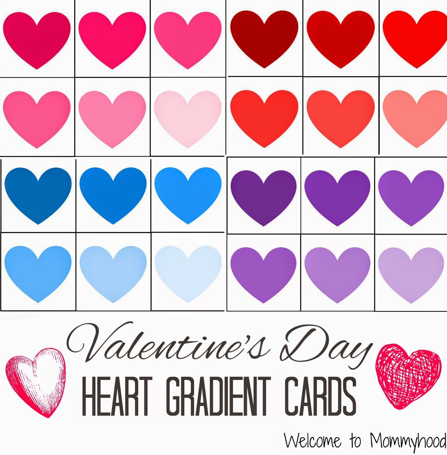 Welcome To Mommyhood Valentine S Day Colour Gra Nt Printables