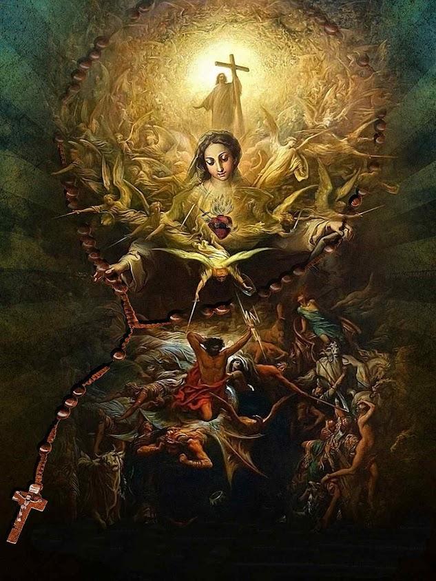 Triunfo do Imaculado Coração de Maria, montagem baseada no 'Triunfo de Cristo sobre o paganismo', Gustave Doré (1832 — 1883), The Joey and Tobey Tanenbaum Collection, por www.schmalen.com