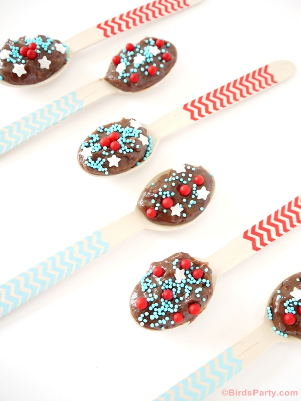 Brazilian Brigadeiro Chocolate Fudge Spoons Party Recipe - BirdsParty.com
