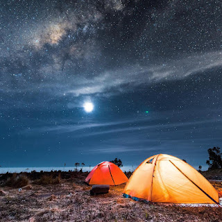 Milky way foto bintang merbabu