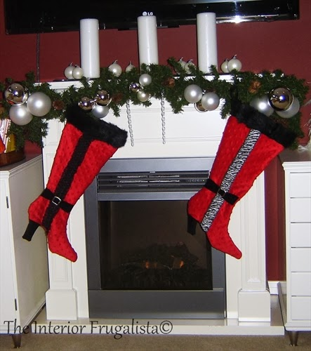 Handmade chenille Stiletto Boot Stockings