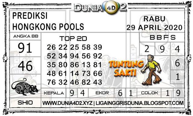 Prediksi Togel HONGKONG DUNIA4D2 29 APRIL 2020