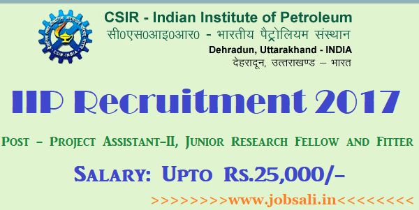 IIP Dehradun Recruitment 2017, IIP jobs, Fitter Jobs in india