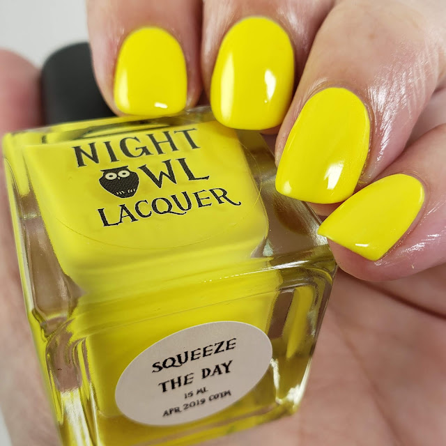 night owl lacquer, night owl, indie polish, indie lacquer, creme of the month, yellow polish, yellow nail polish, yellow, lemon, lemon yellow