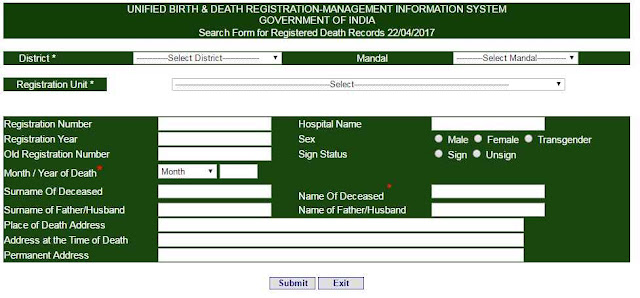 UBDMIS AP Death records
