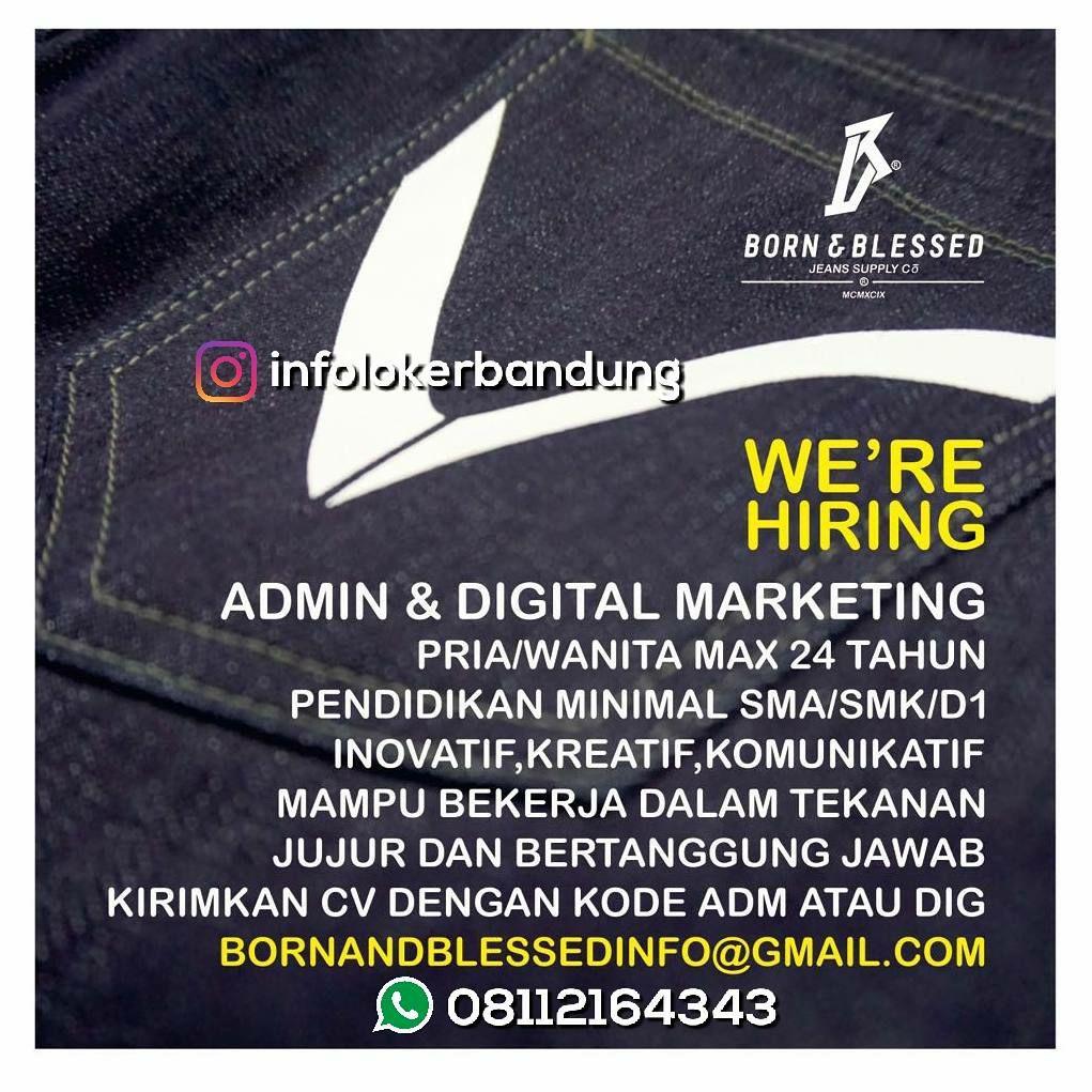 Lowongan Kerja Born & Blessed ( Jeans Supply Co) Bandung Februari 2018
