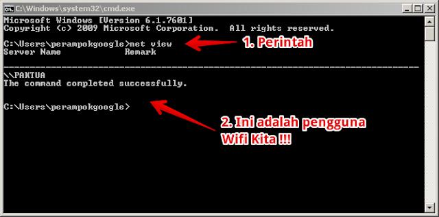 cara mengetahui pengguna wifi melalui cmd
