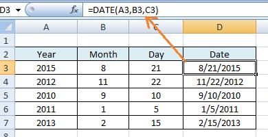 Cara Menggunakan Rumus DATE