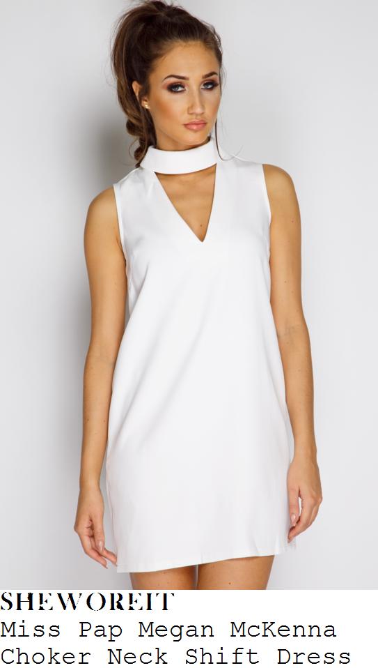 megan-mckenna-miss-pap-megan-mckenna-collection-white-choker-neck-shift-mini-dress