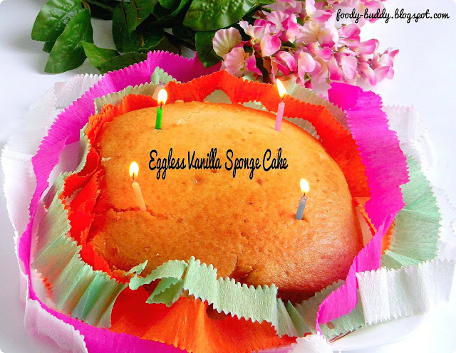 Eggless Vanilla Sponge Cake Using Yogurt No Egg No Butter Recipe