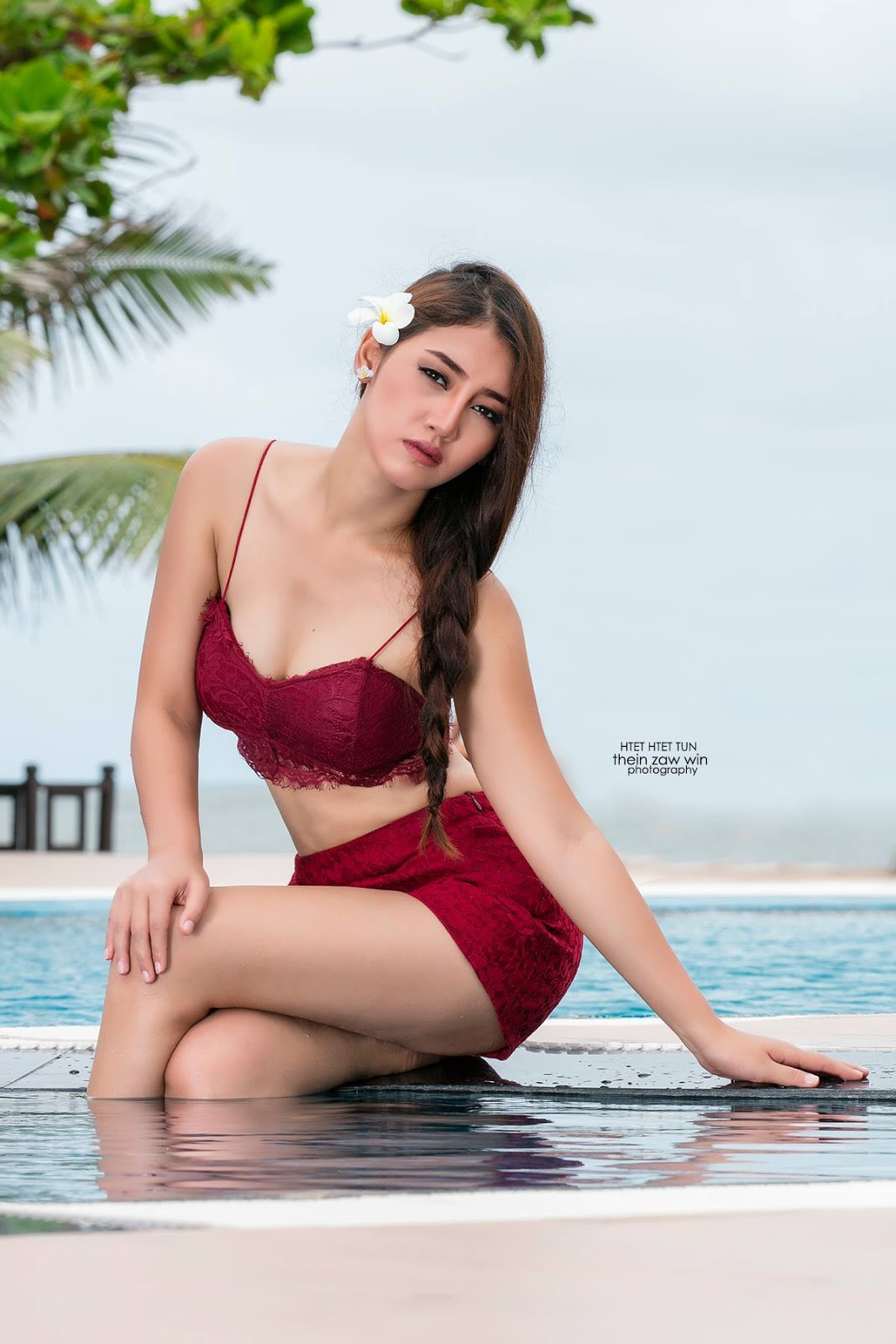Miss Universe Myanmar 2017 Htet Htet Htun At The Beach