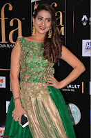 Manjusha in Beautiful Sleeveless Green Anarkali dress at IIFA Utsavam Awards 23.JPG