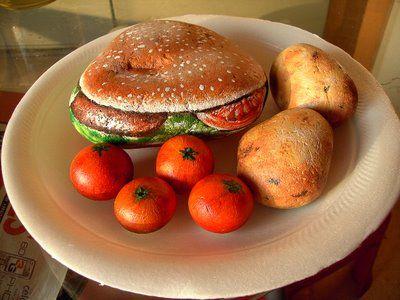 stones painting food design ideas - Food Design Ideas