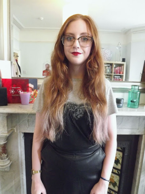 dip dye ginger hair