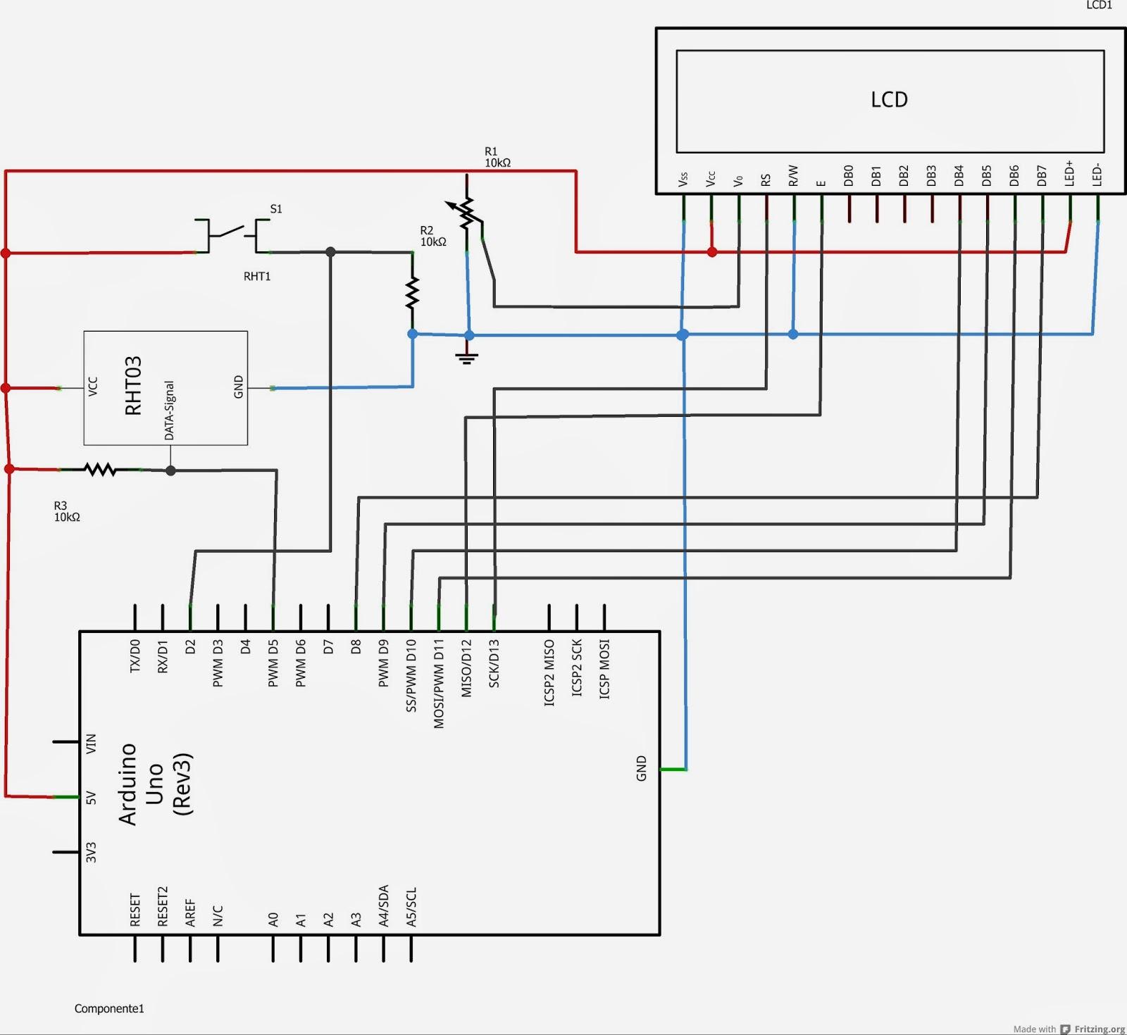 Schemi Elettrici Arduino : Avventura arduino meteo dht