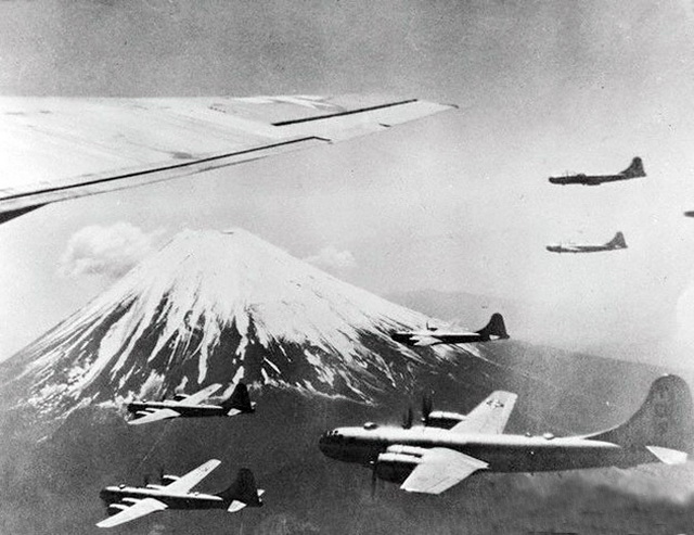 B-29s Mount Fuji  worldwartwo.filminspector.com