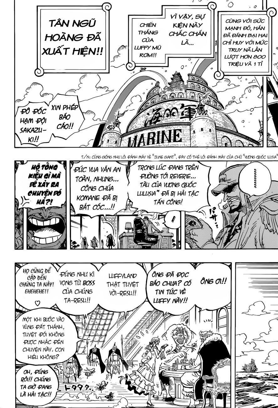 luffy trở thành tân ngũ hoàng của biển khơi
