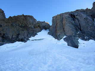 This is the entrance to the gully leading up to the U-Notch.