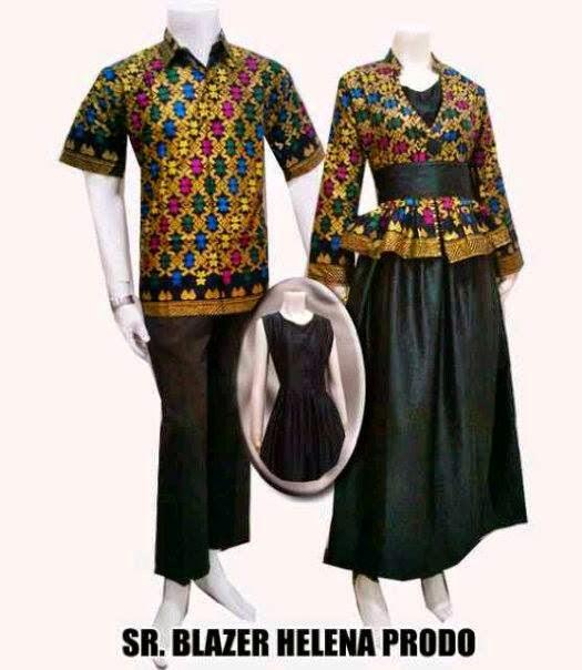 Baju Sarimbit Gamis Batik Model Setelan Rok Blouse Baju