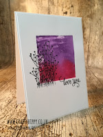 This image shows a handmade card made with Gorgeous Grape ink and the Enjoy Life stamp set, both by Stampin' Up!