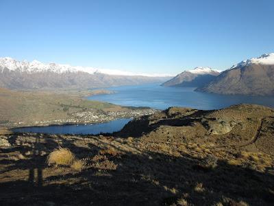 Lago Wakatipu desde el sendero de Queenstown Hill, Nueva Zelanda
