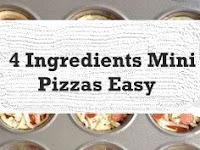4 Ingredients Mini Pizzas Easy