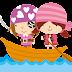 Pirate Babies Clip Art.