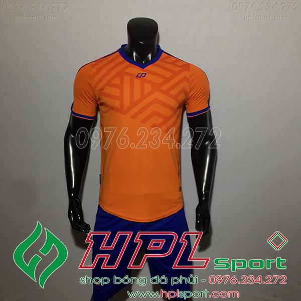 Áo bóng đá không logo CP Asno màu cam