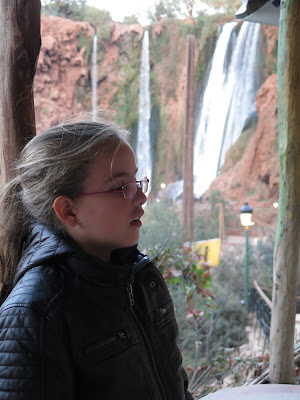 Macarena en las Cascadas de Ouzoud