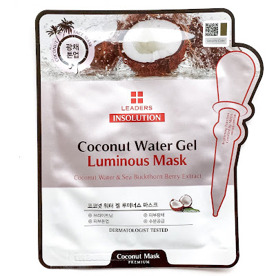 leaders insolution coconut water gel luminous mask review
