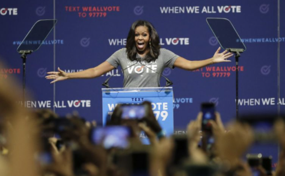 Michelle Obama urges young voters to 'take their power back'
