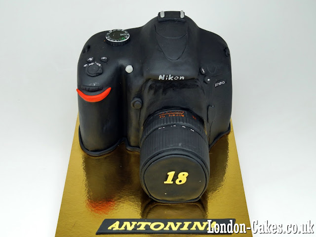 Nikon Camera Birthday Cake London