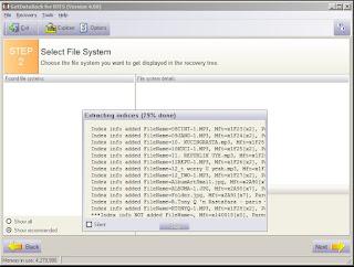 Proses scaning kedua untuk menampilkan file
