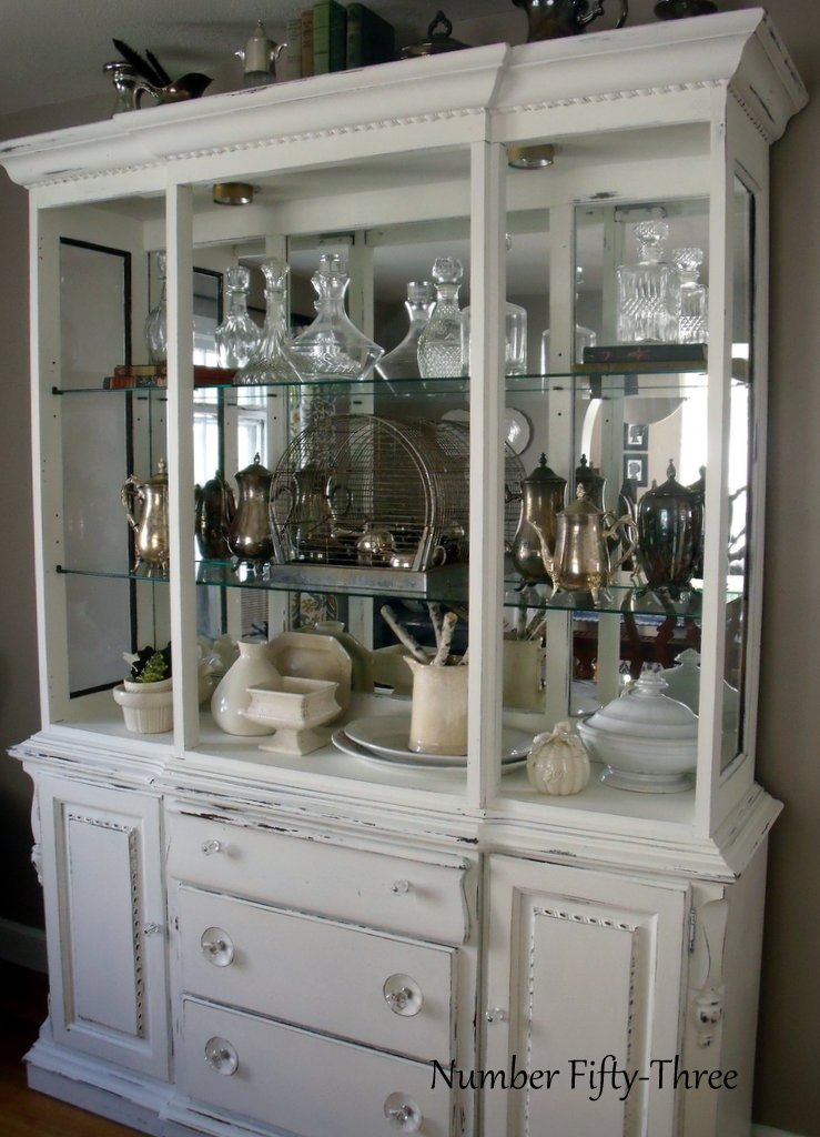 Number Fifty-Three: Dramatic Dining Room Hutch Transformation