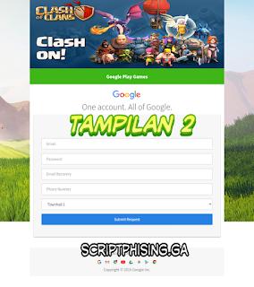 Demo 2 Script Phising COC Sendmail Tampilan Google