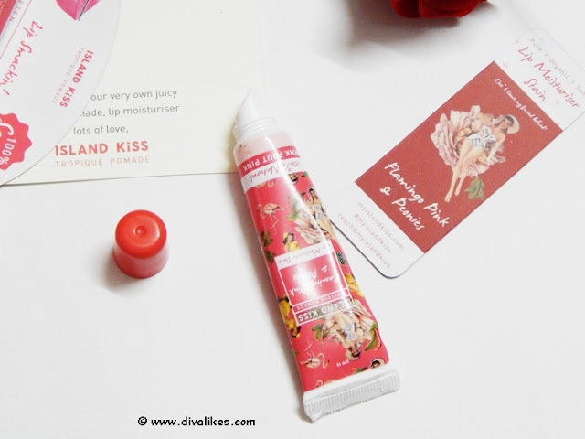Island Kiss Flamingo Pink and Peonies Lip Moisturiser Stain
