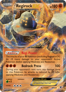 Regirock EX Fates Collide Pokemon Card